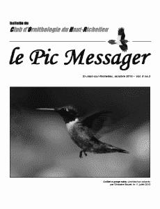 Le Pic Messager octobre 2010