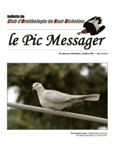 Le Pic Messager Octobre 2011