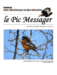 Le Pic Messager octobre 2015