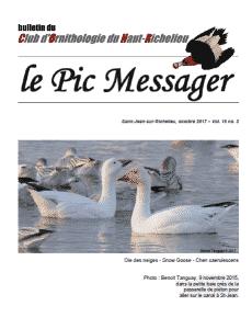 Le Pic Messager octobre 2017